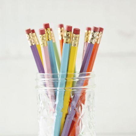 Pastel #2 Hardwood Personalized Pencils