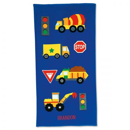 Trucks Personalized Beach Towel