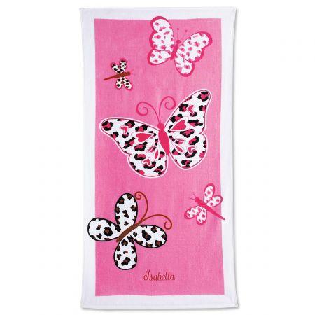 Leopard Butterflies Towel