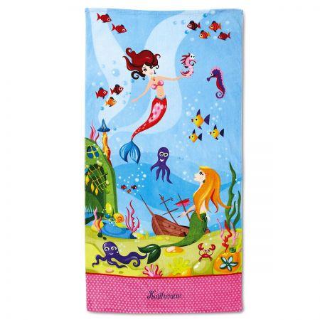 Mermaid Personalized Beach Towel