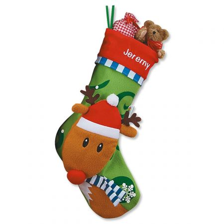 Personalized 3D Christmas Stockings-Rudolph-Z812411