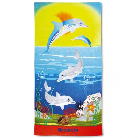 Dolphins Personalized Beach Towel