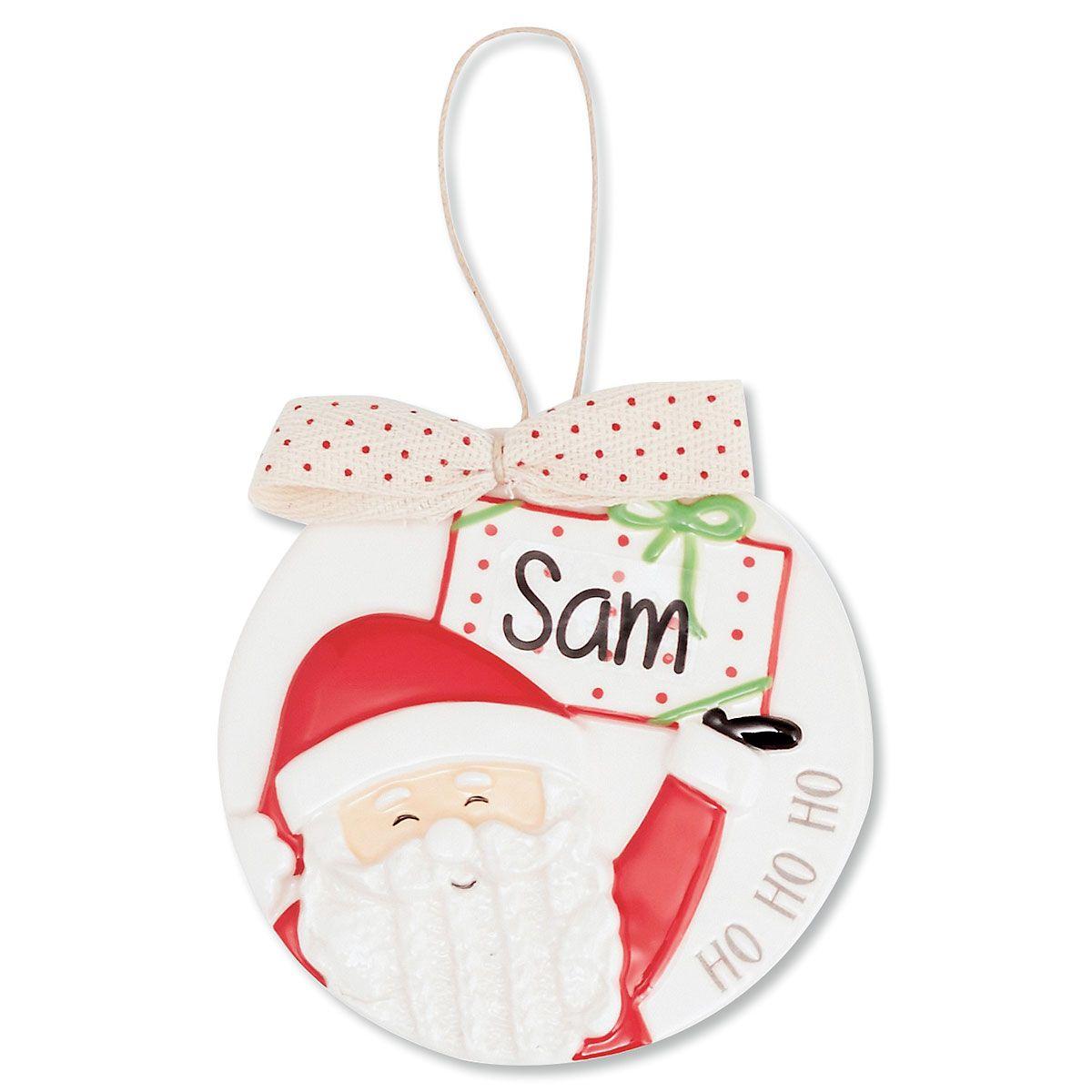 Santa Porcelain Ornament