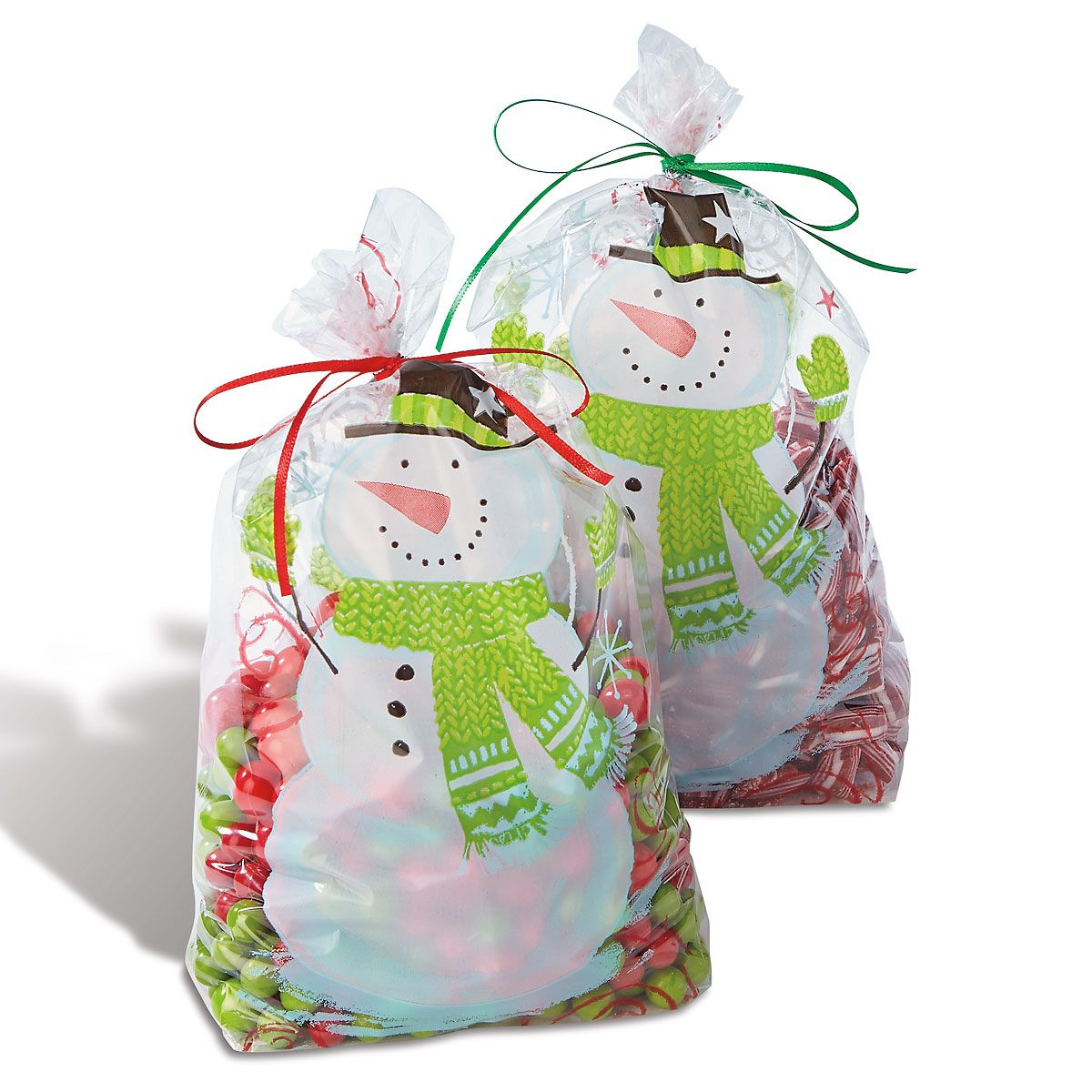 Snowman Swirl Treat Bags