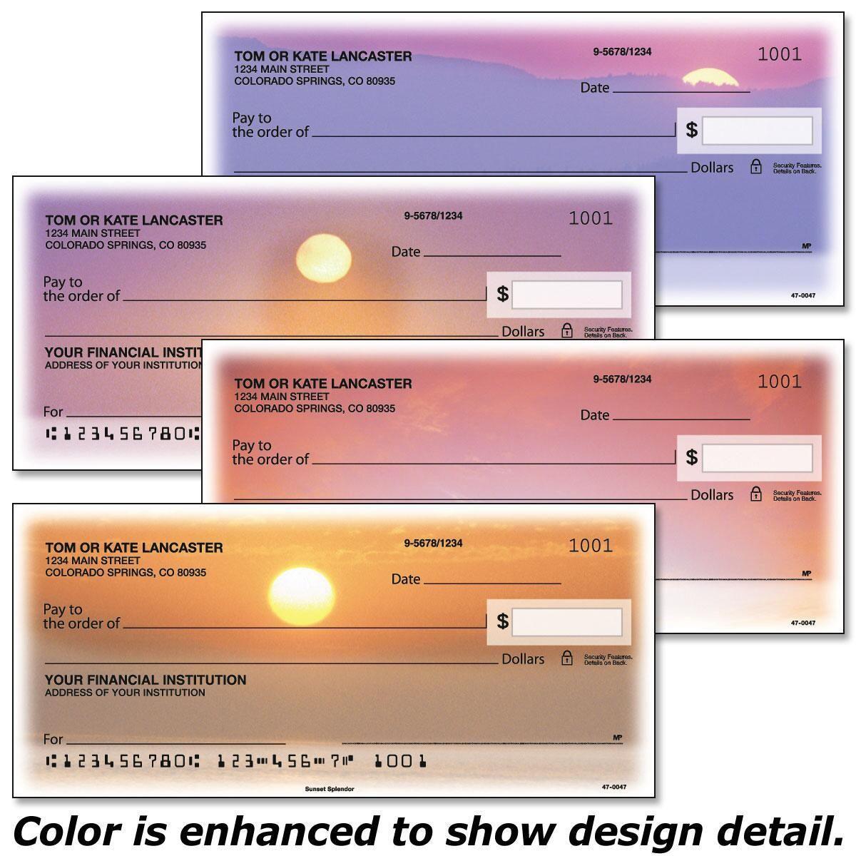 Sunset Splendor Single Checks