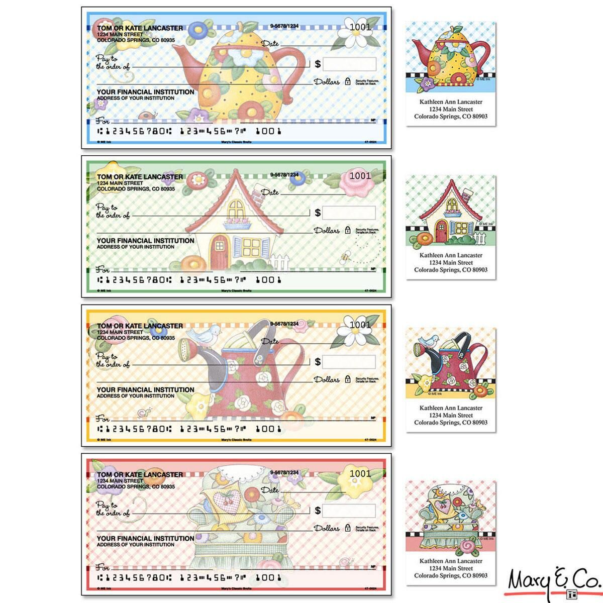 Mary Engelbreit® Classic Duplicate Checks With Matching Address Labels