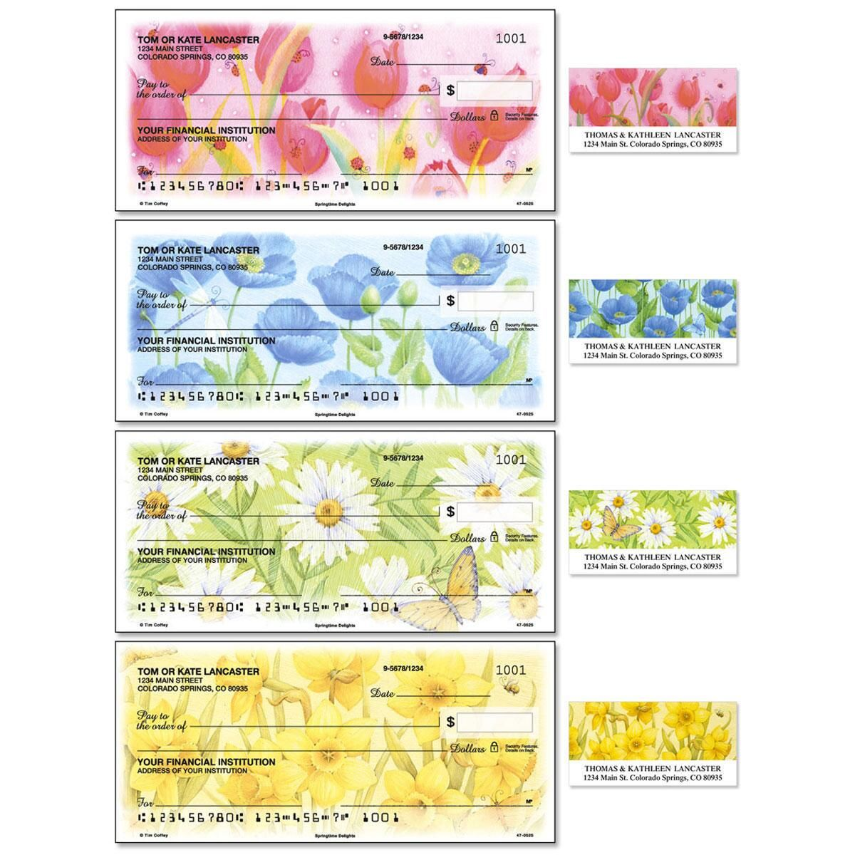 Springtime Delights Duplicate Checks With Matching Address Labels