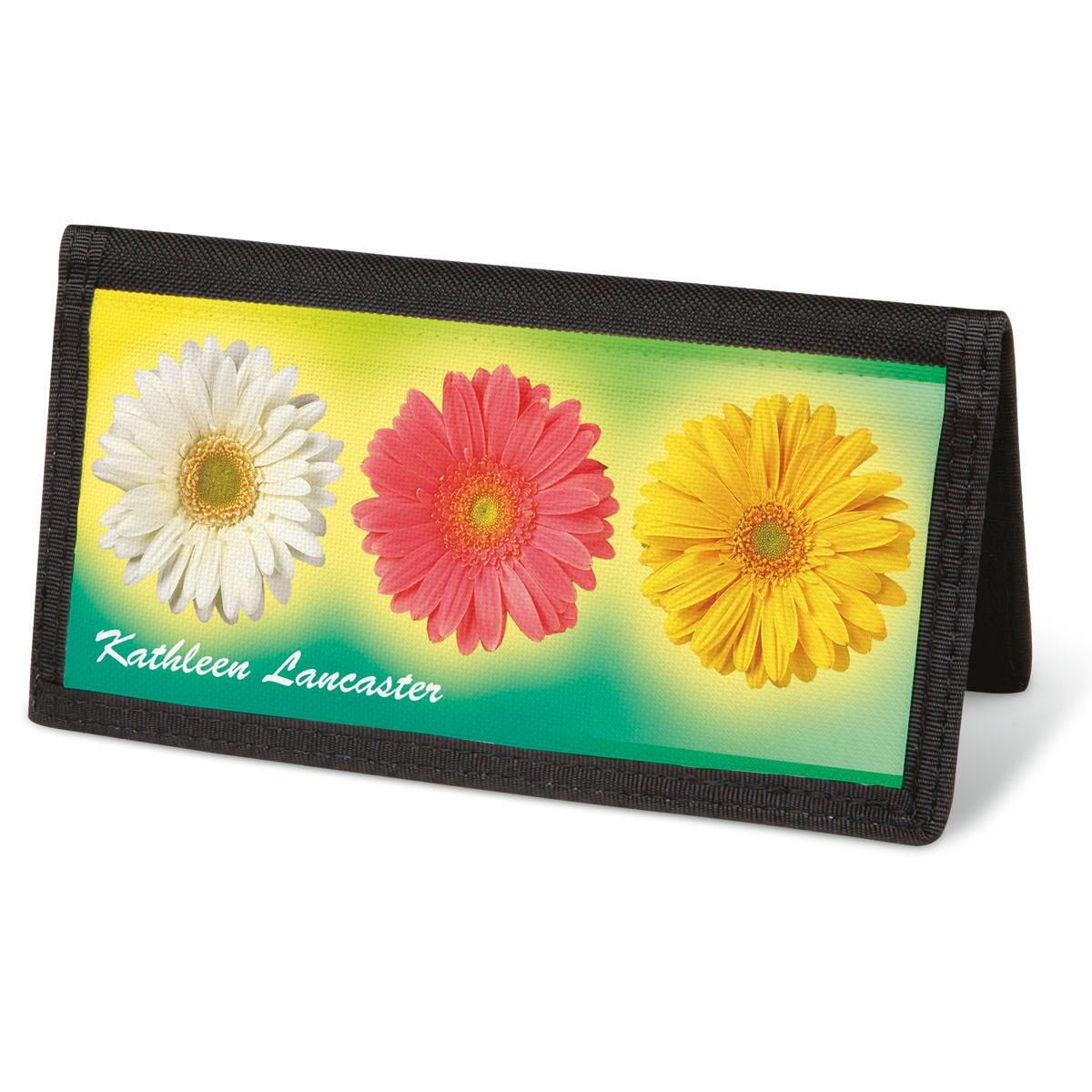 Illuminated Petals  Checkbook Cover - Personalized