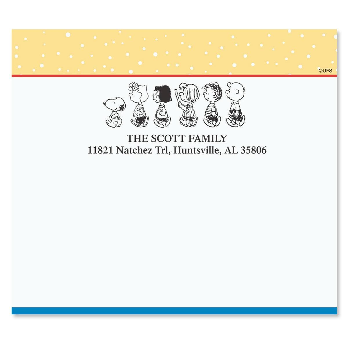 PEANUTS®  Our Family Mailing Package Label
