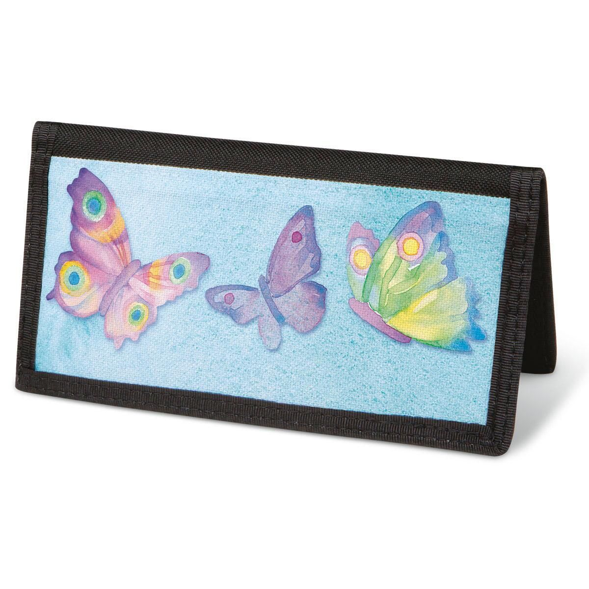 Watercolor Wings  Checkbook Covers - Non-Personalized