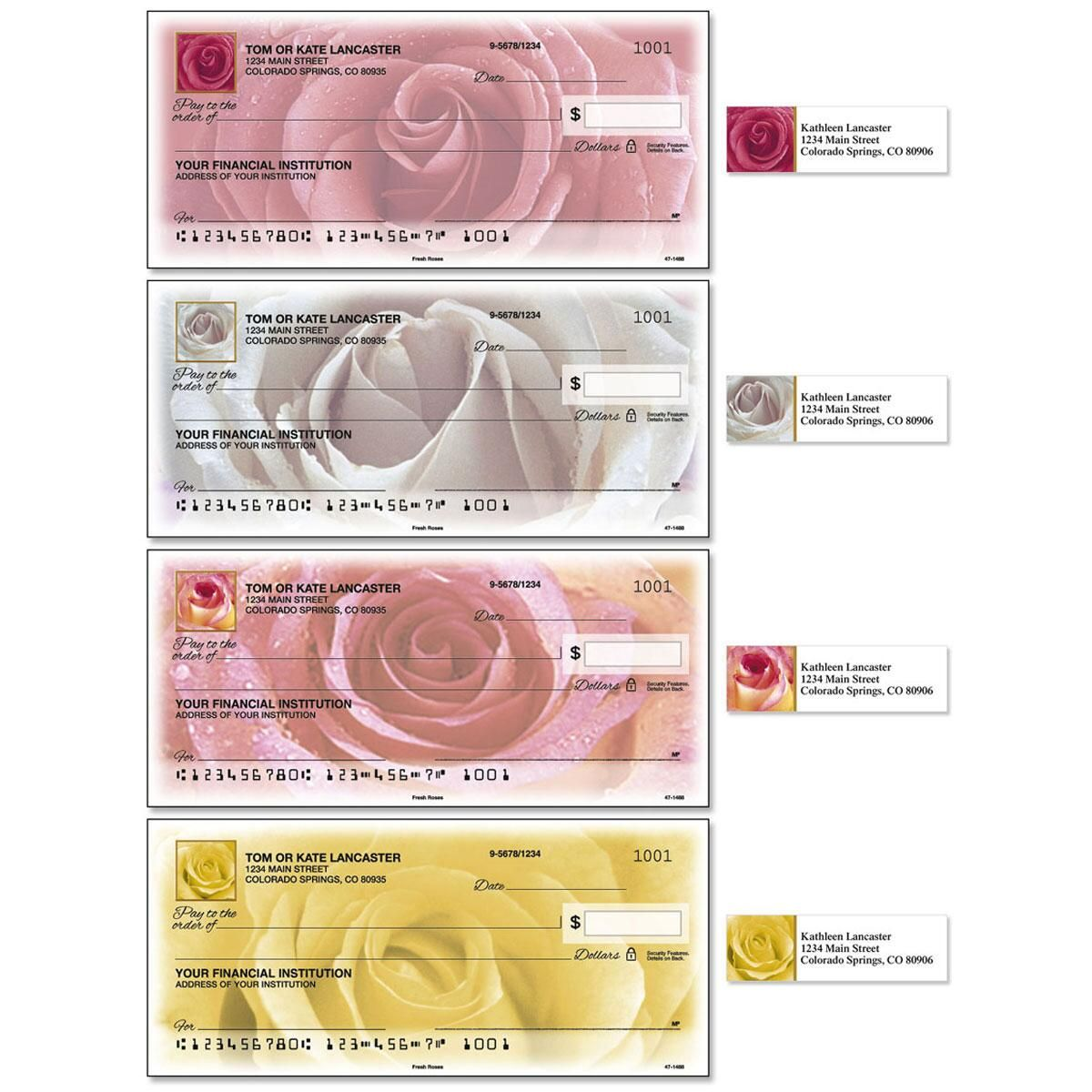 Fresh Roses Duplicate Checks With Matching Address Labels