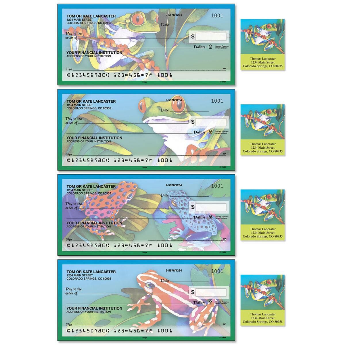 Frogs  Single Checks With Matching Address Labels