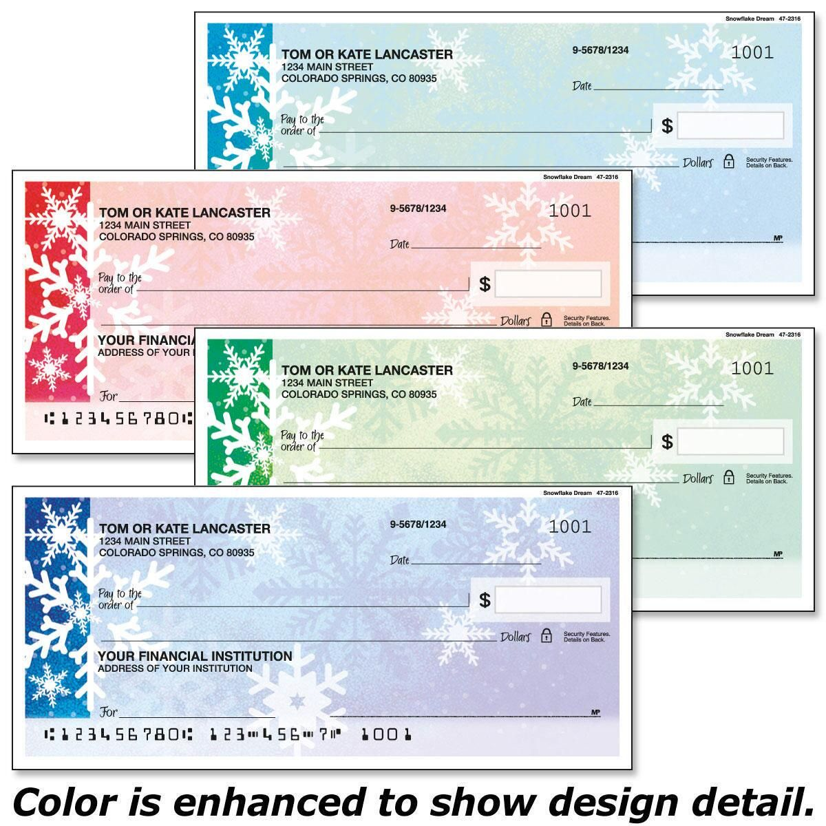Snowflake Dream Checks