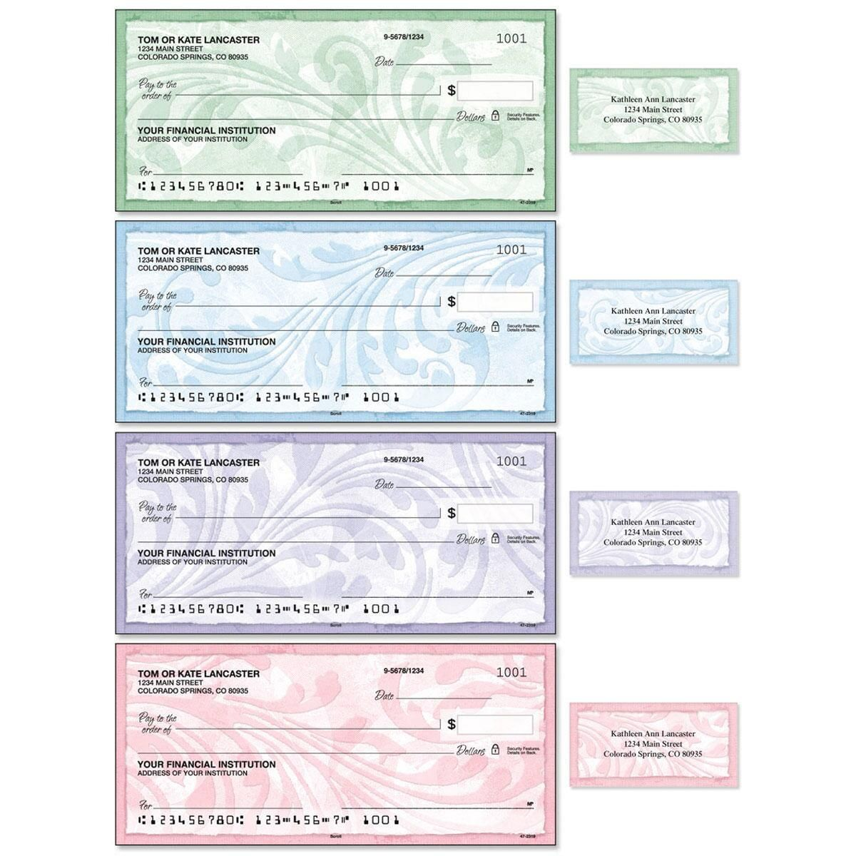 Scroll Single Checks with Matching Address Labels