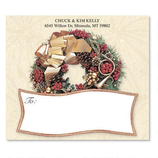 Wreath Rhapsody Mailing Package Label