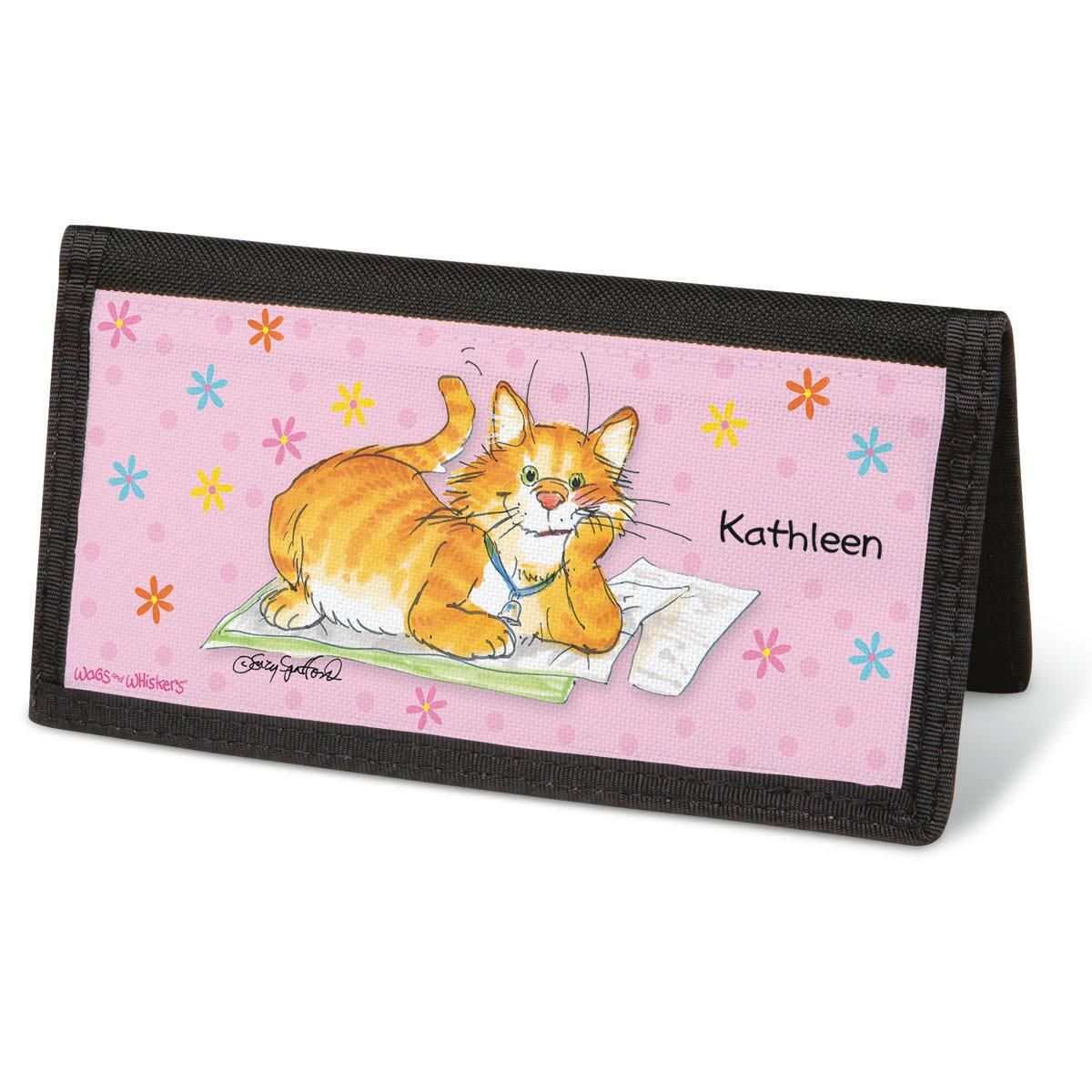 Wags & Whiskers®  Checkbook Cover - Personalized