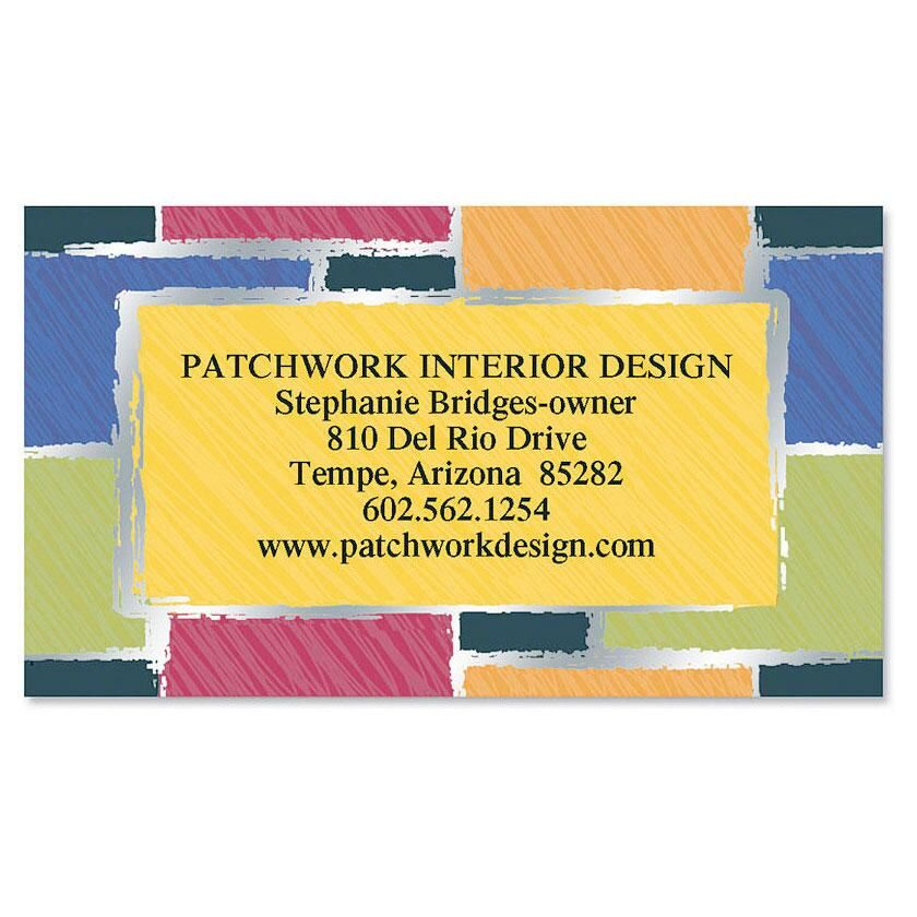 Patchwork Foil Calling Card
