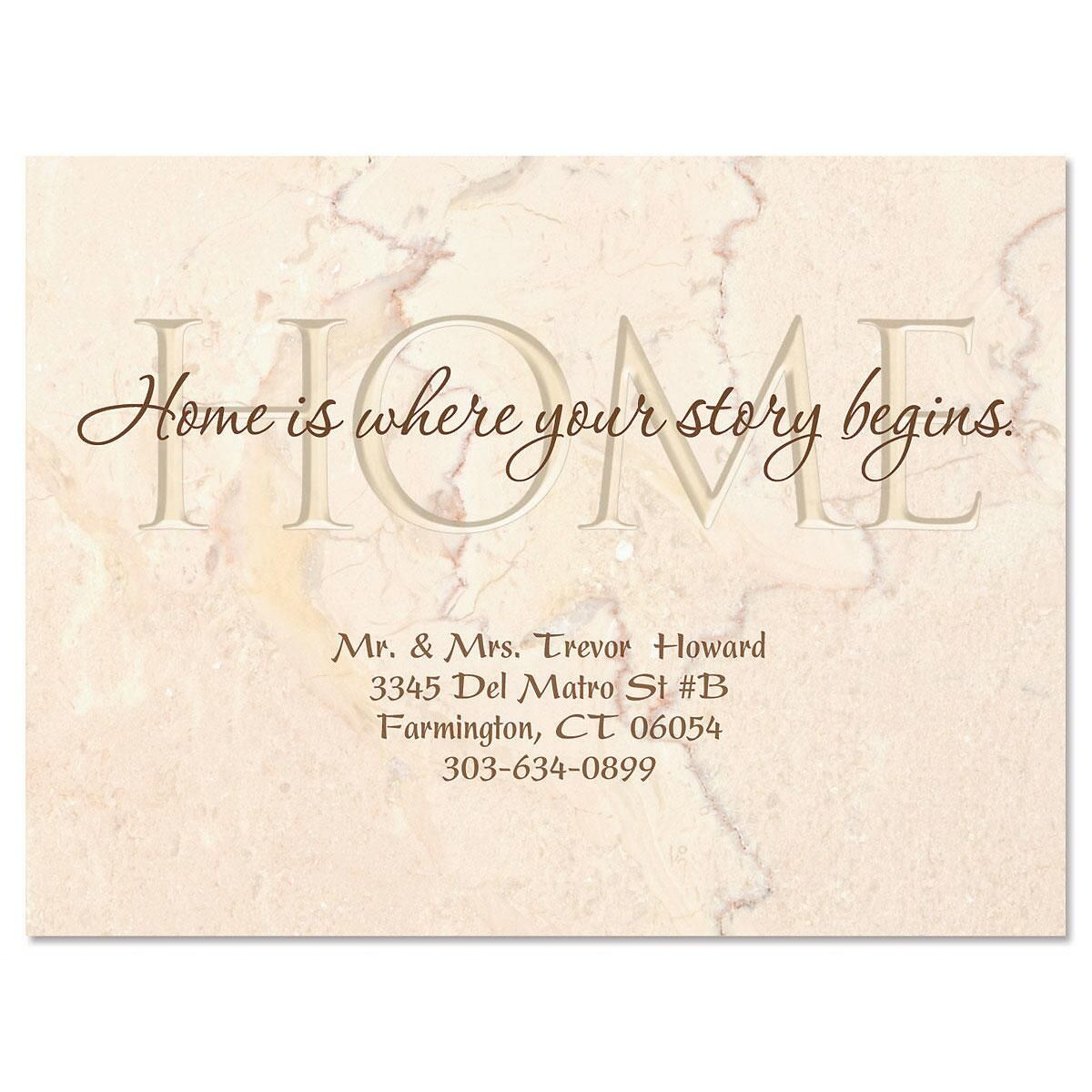 Moving Your Story New Address Postcards