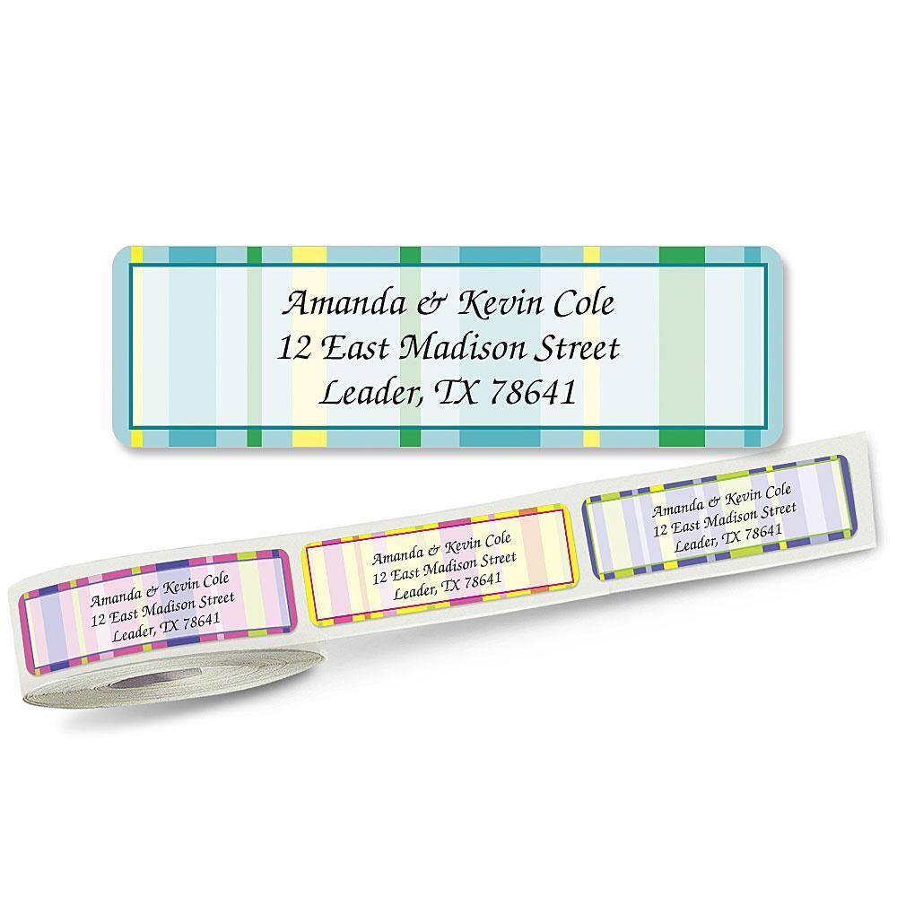 Graphic Stripes Designer Rolled Address Labels  (5 designs)