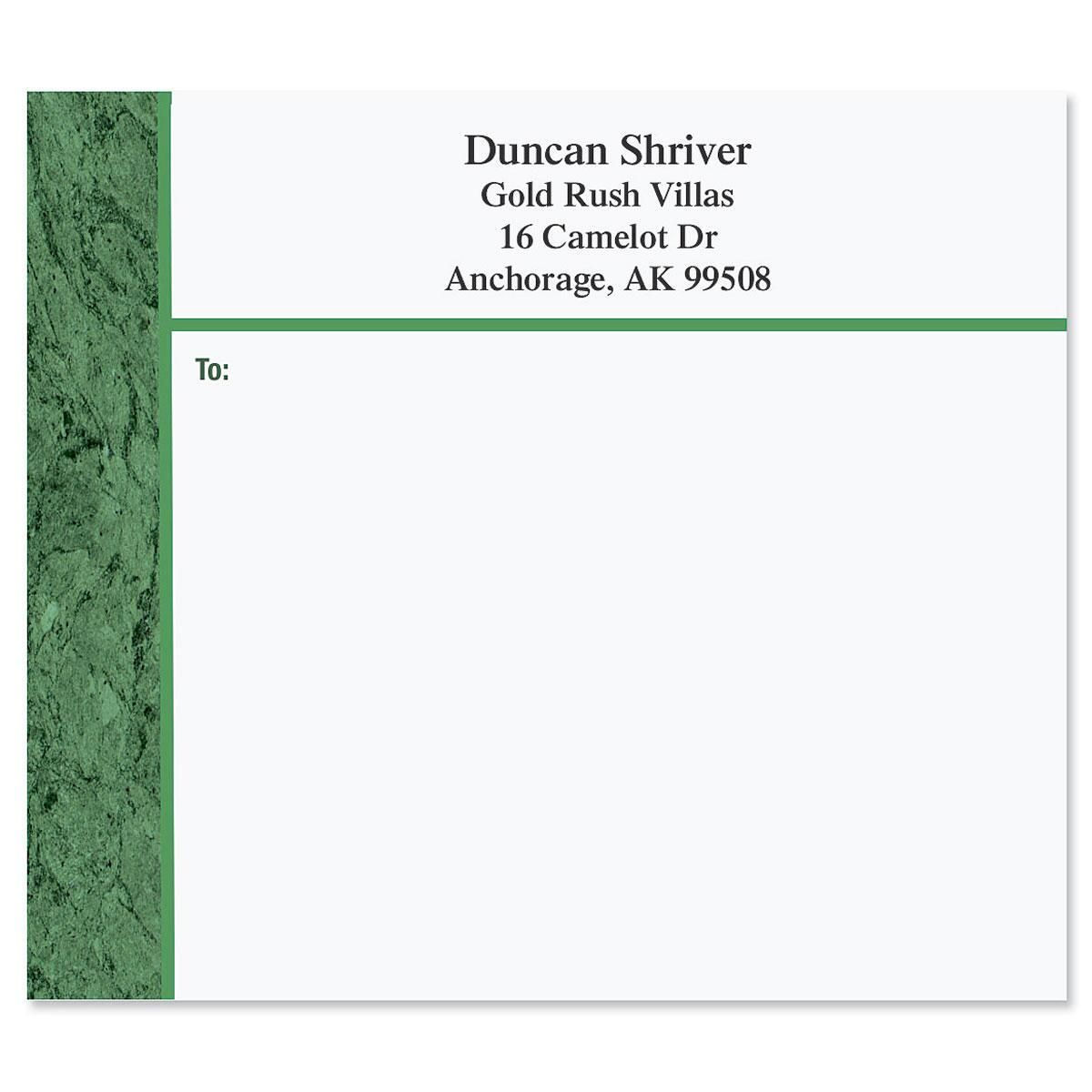 Green Marble Mailing Package Label