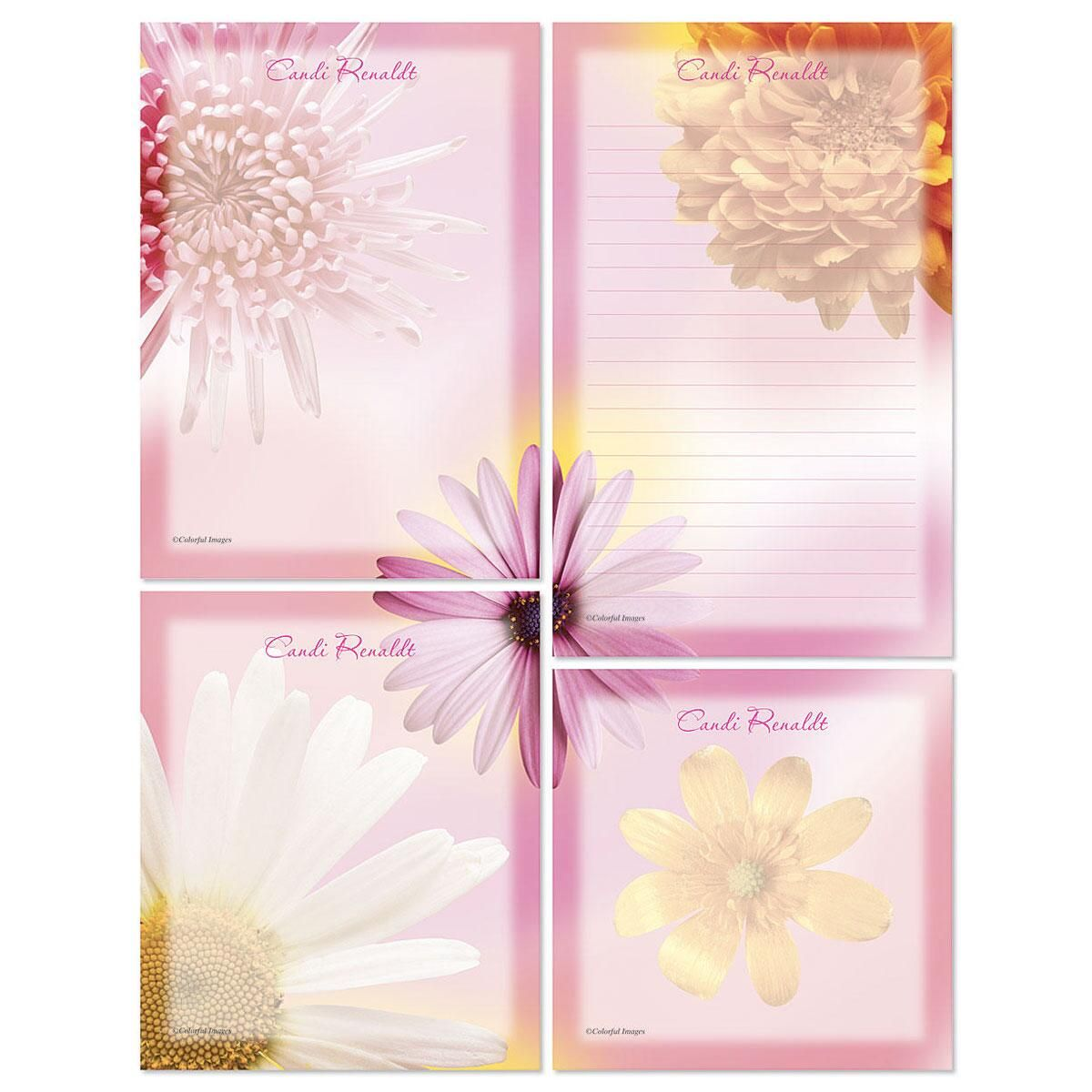 Illuminated Petals Memo Pad Sets