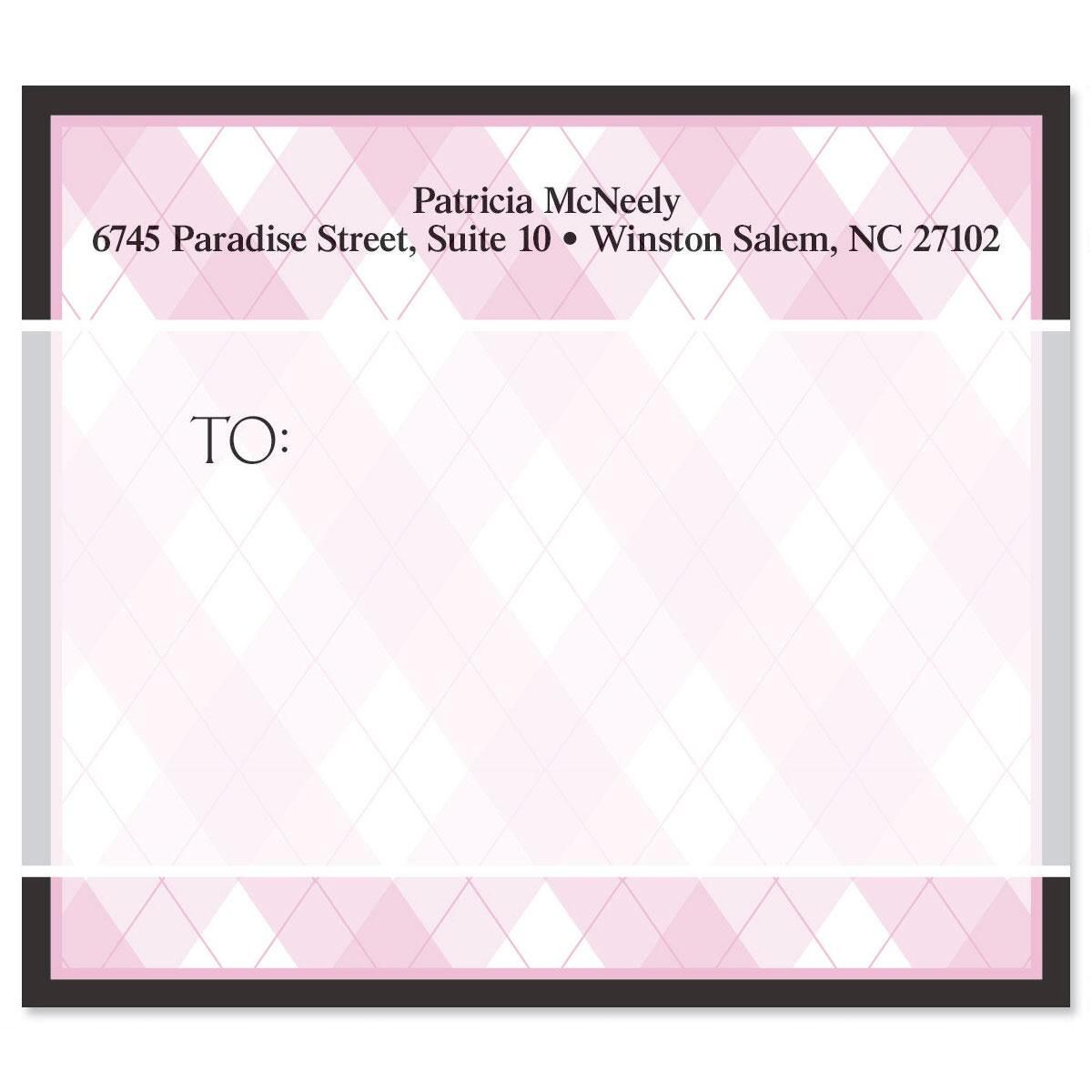 Pink And Black Mailing Package Label
