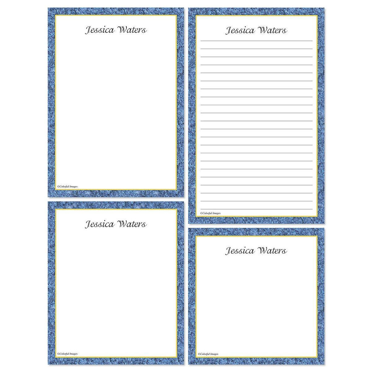 Granite & Gold Memo Pad Sets