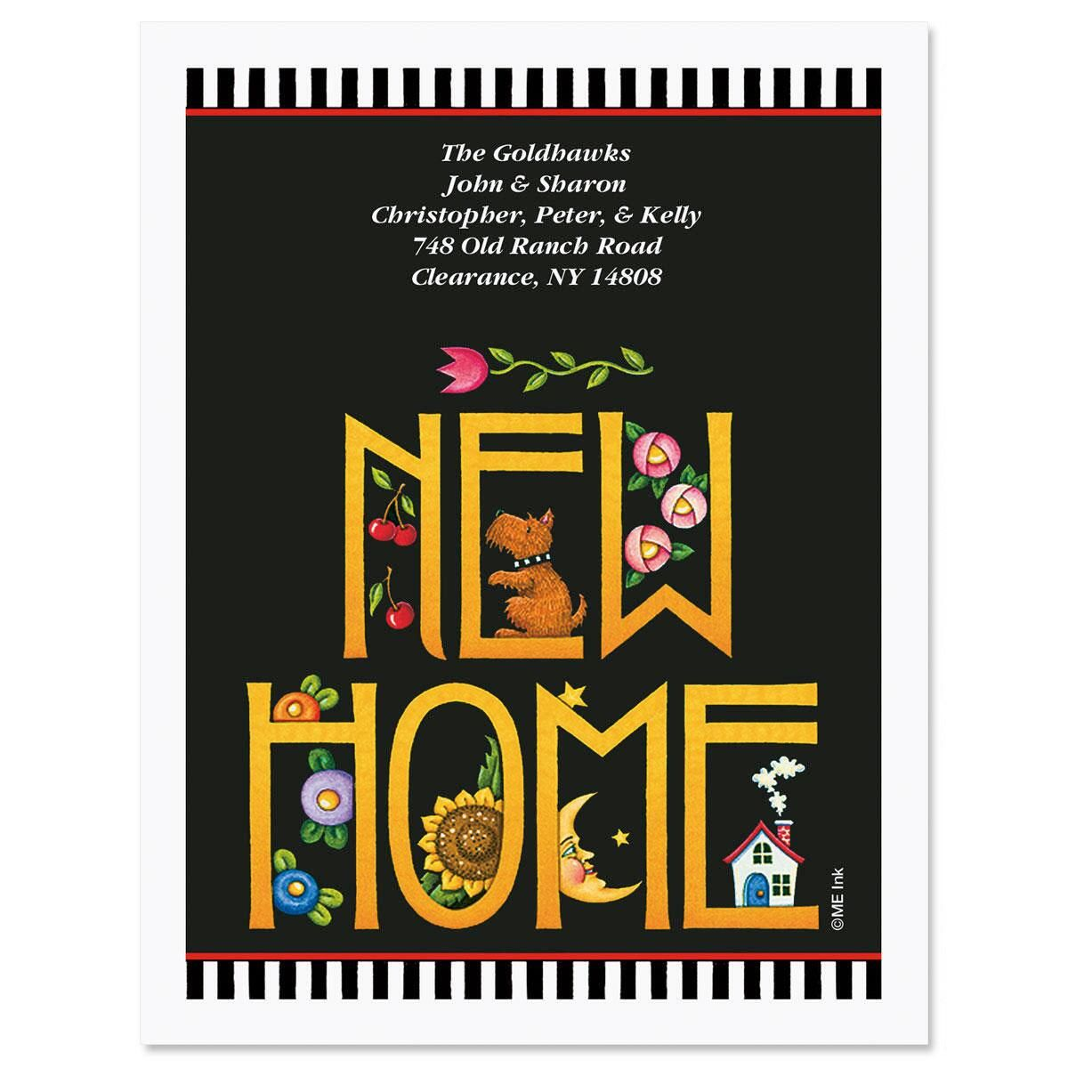 Mary Engelbreit® Home Again New Address Postcards