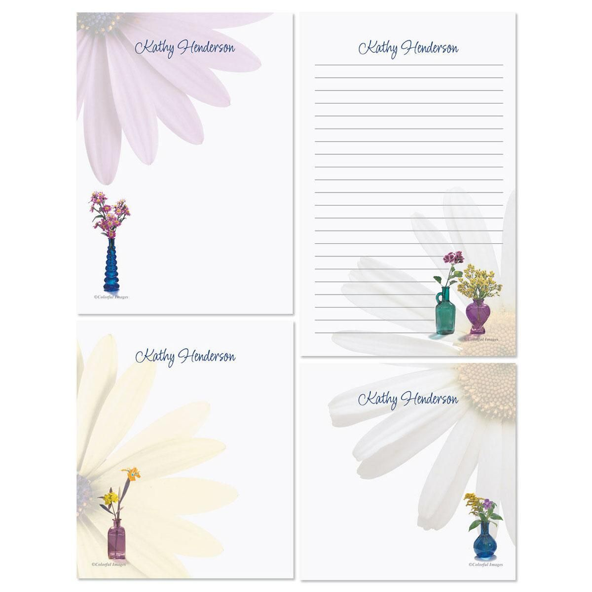Blue Bottles Memo Pad Sets