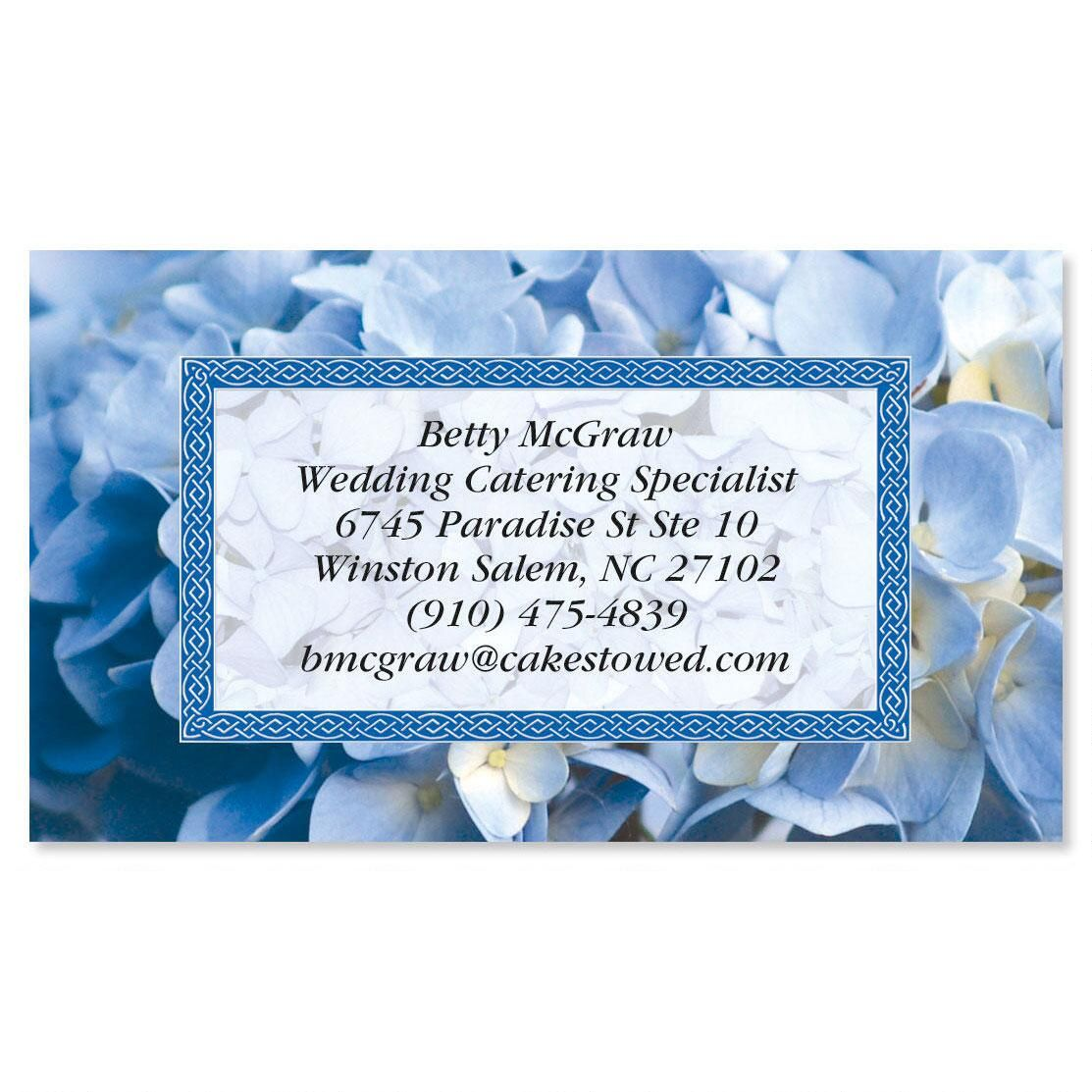 Hydrangea Calling Card