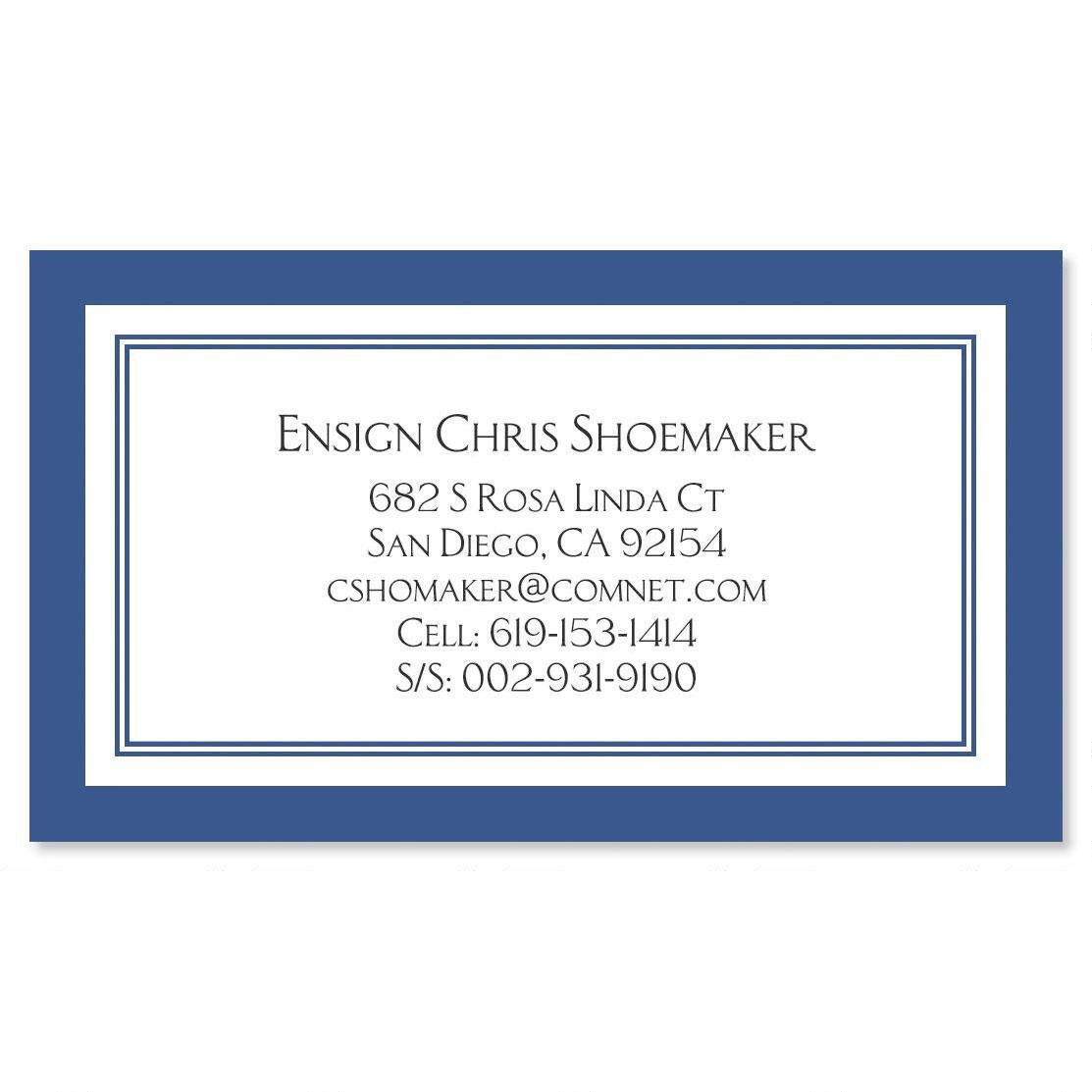 Navy Crisp Luxe Business Card