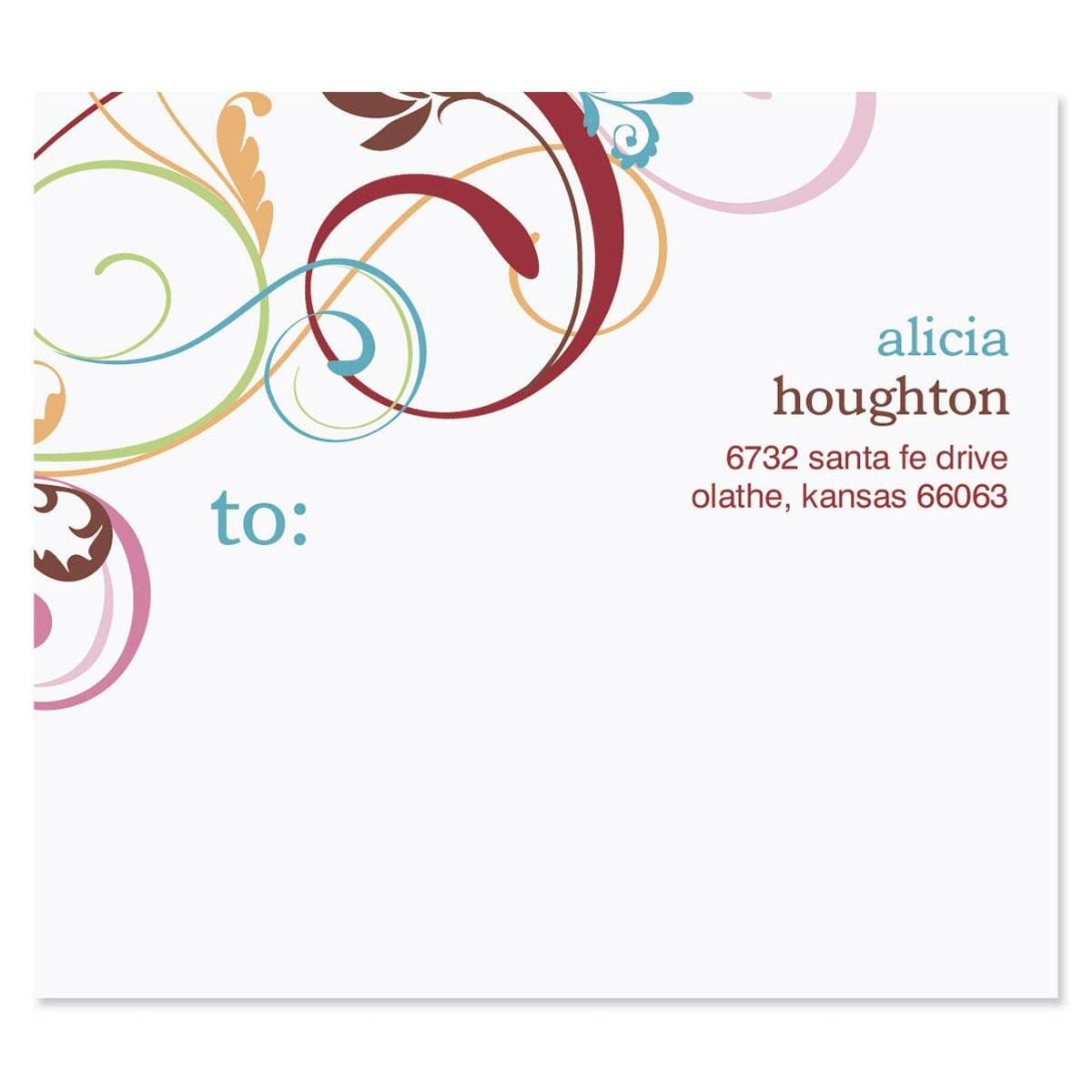 Fantasia Mailing Package Label
