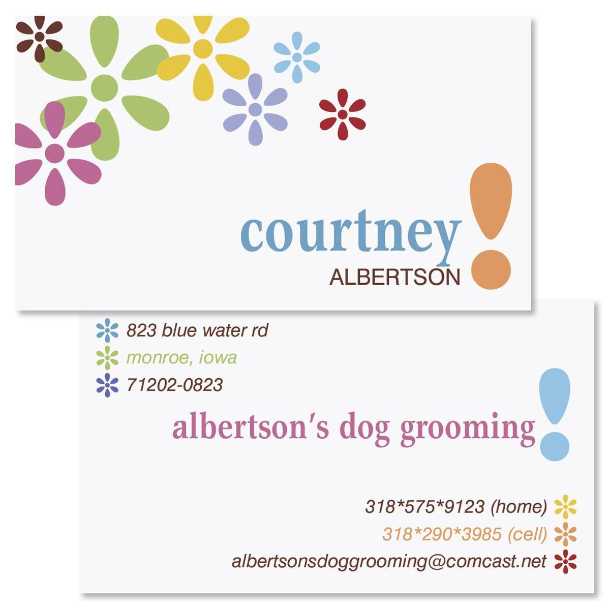 Hopscotch Two-Sided Calling Cards