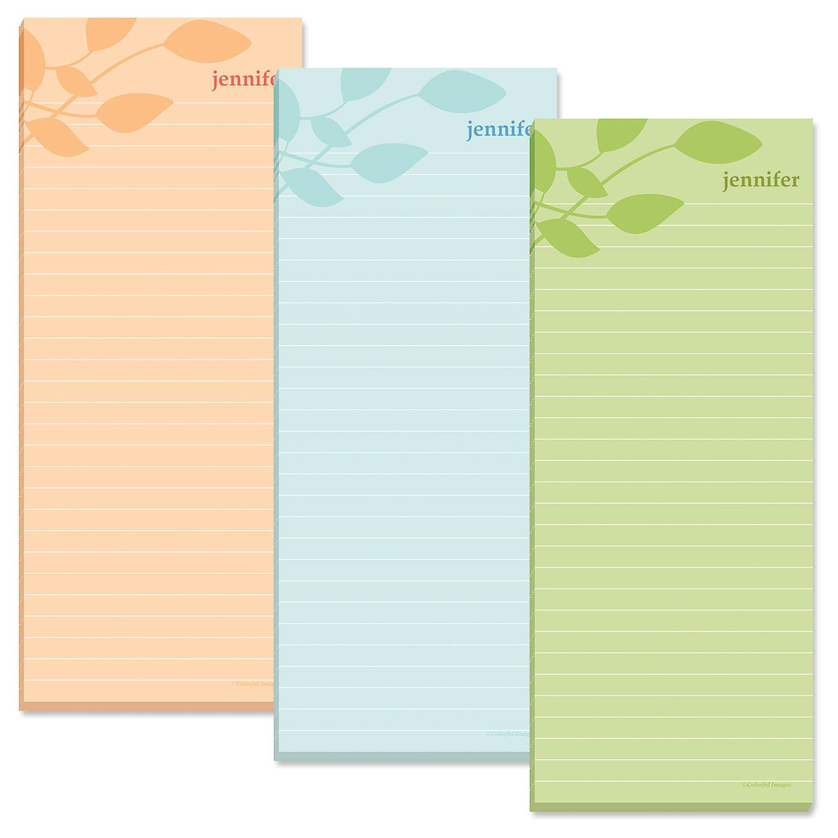Sage Advice Lined Shopping List Pads (3 Colors)