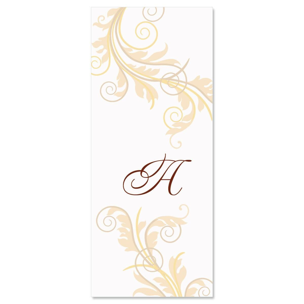 Tred Lightly Initial Slimline Custom Note Cards