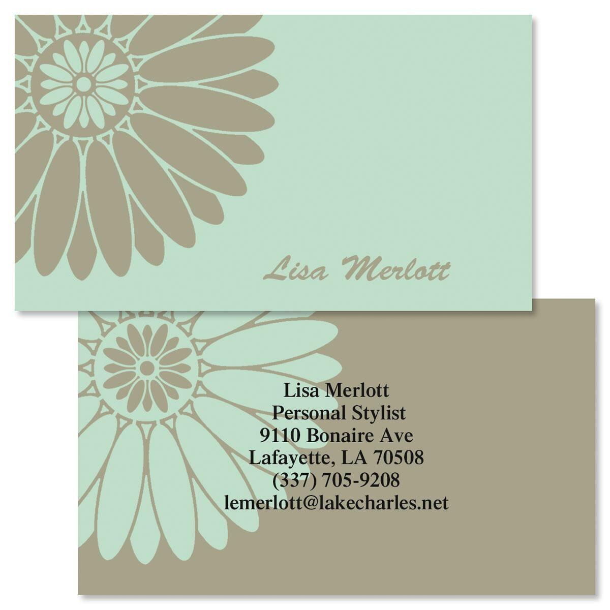 Serene Two-Sided Calling Cards