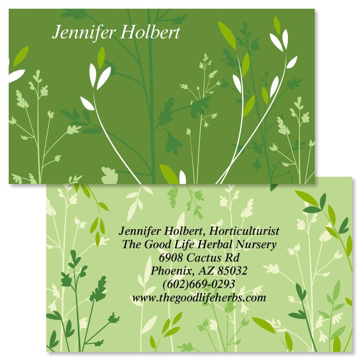 Organic Two-Sided Calling Cards