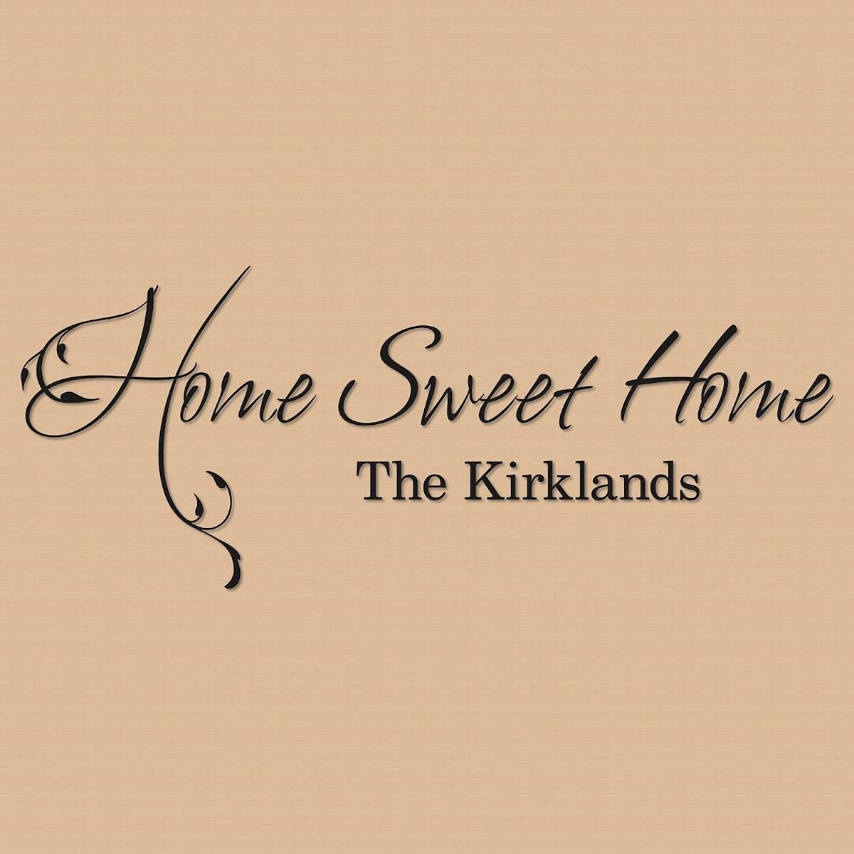 Home sweet home personalized vinyl wall art current catalog Home sweet home wall decor