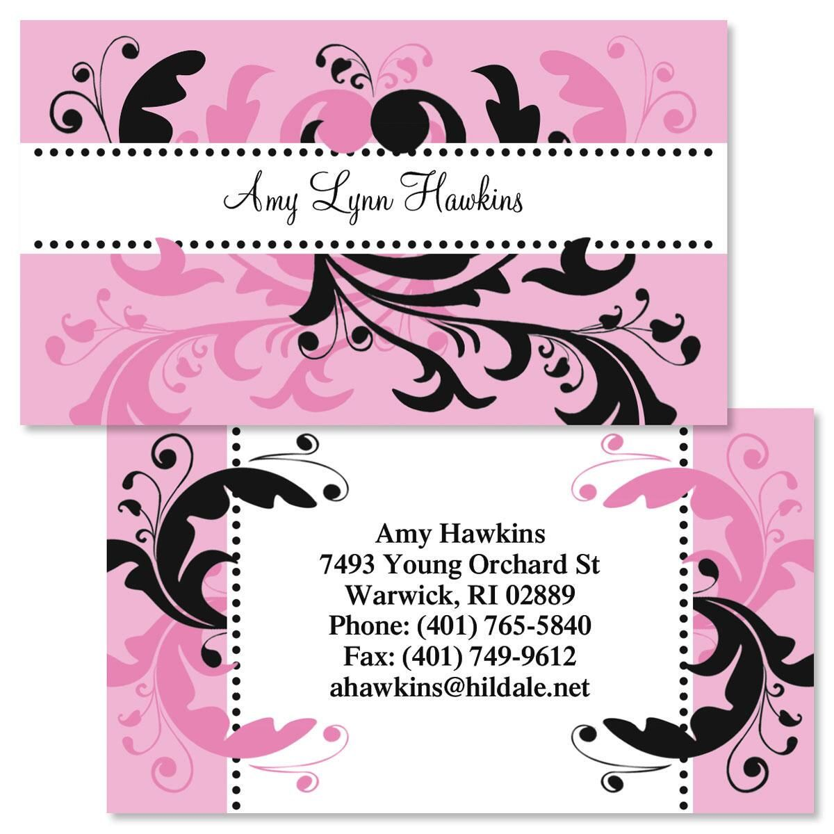 P&K Swirl Two-Sided Calling Card