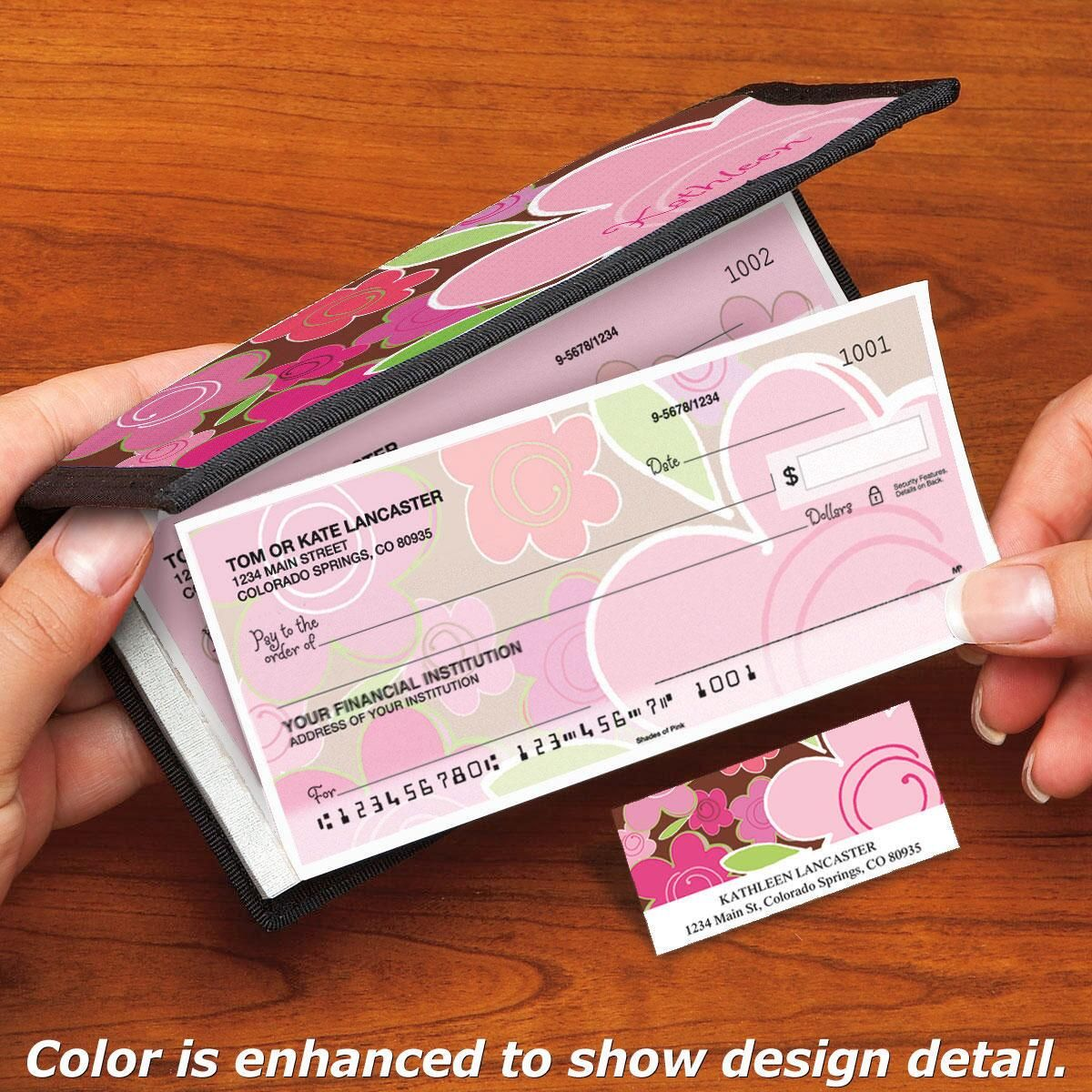 Shades of Pink Side-Tear Single Checks