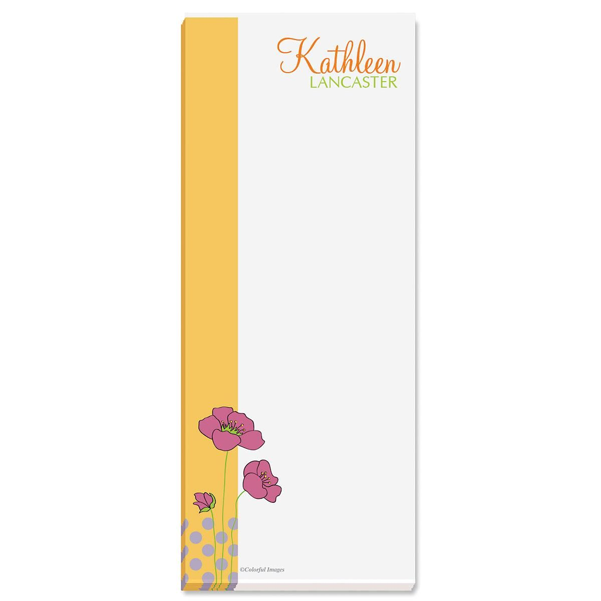 Poppy Custom Memo Pads  (3 colors)