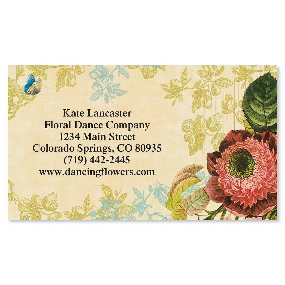 Natures Flora Standard Calling Card