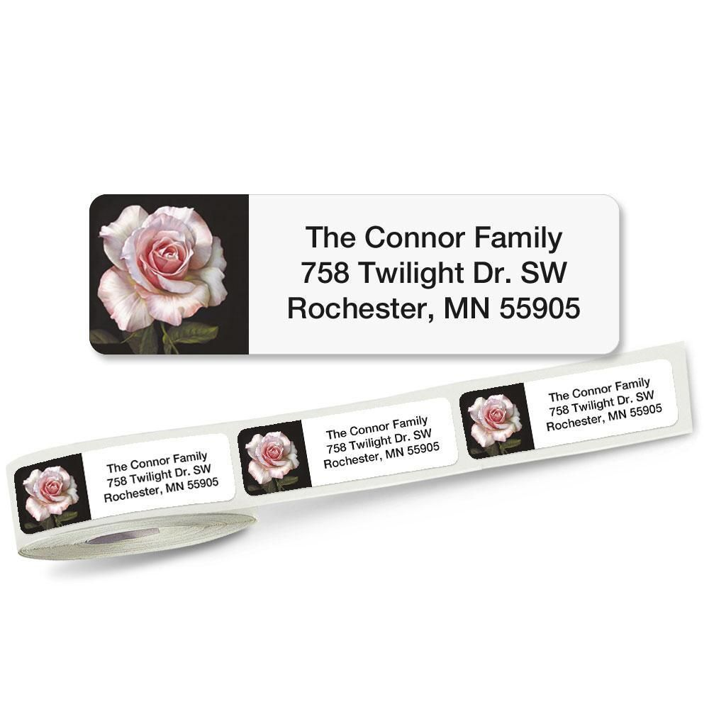 Pretty in Pink Rolled Address Labels