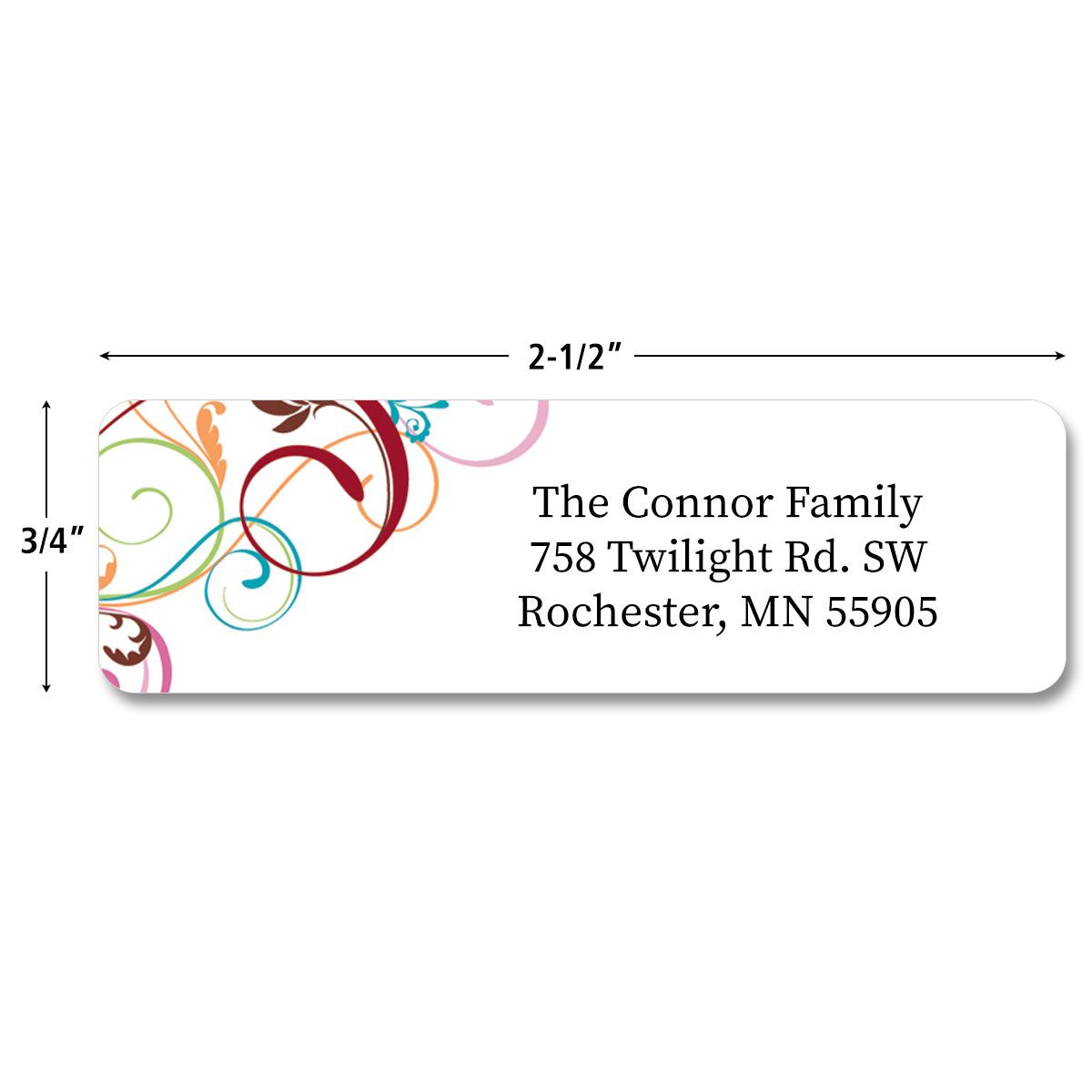 Fantasia  Rolled Address Labels