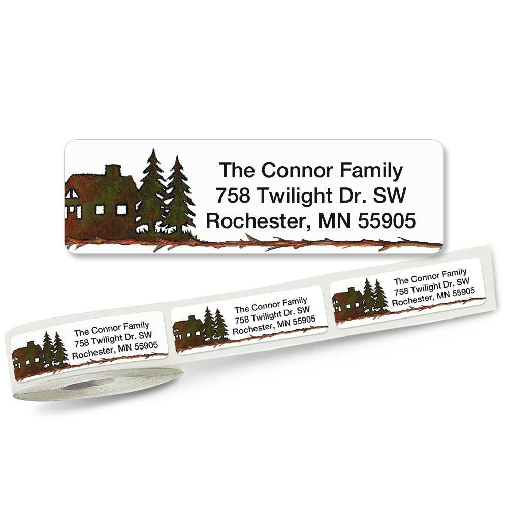 Country Lodge Rolled Address Label