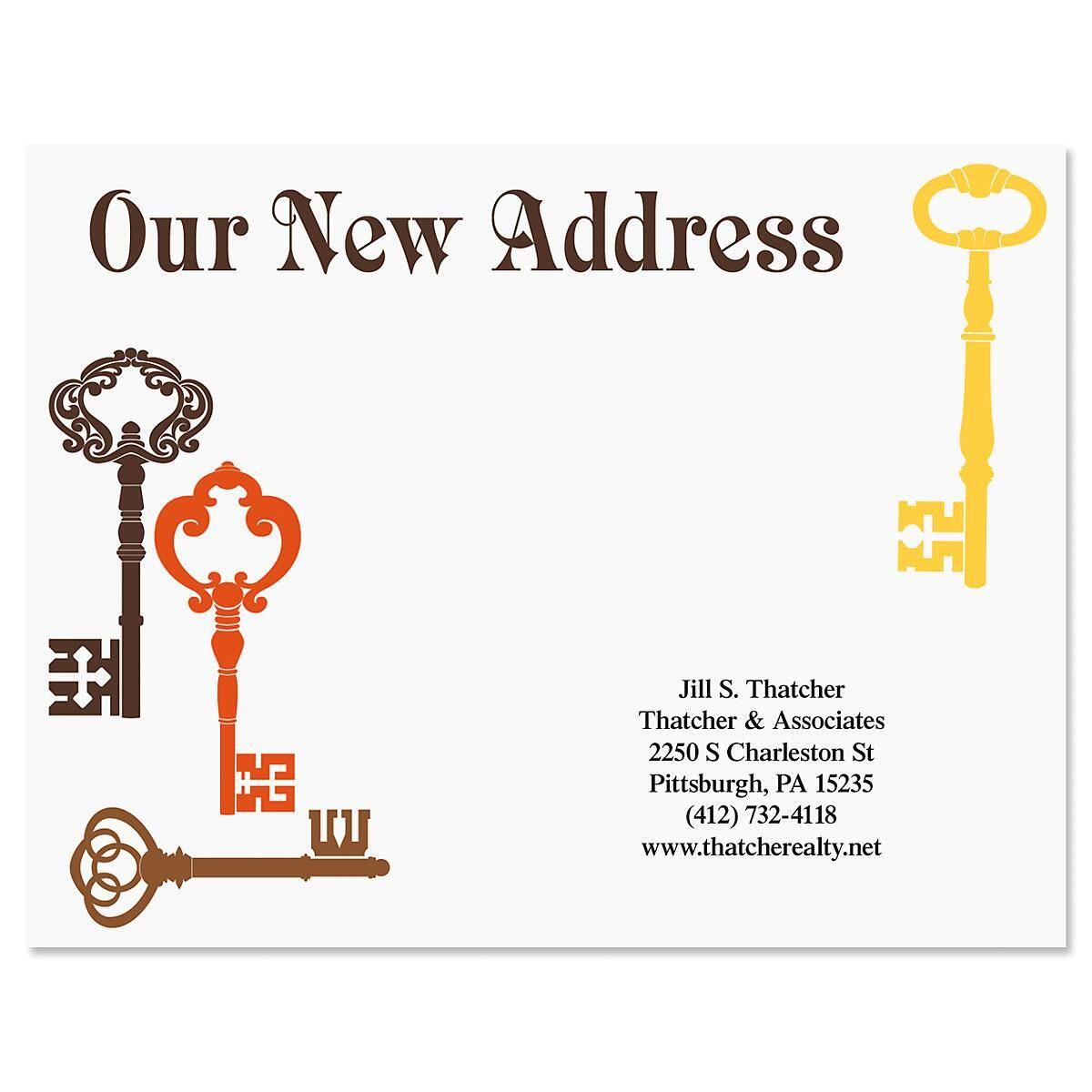 Brass Key New Address Postcards