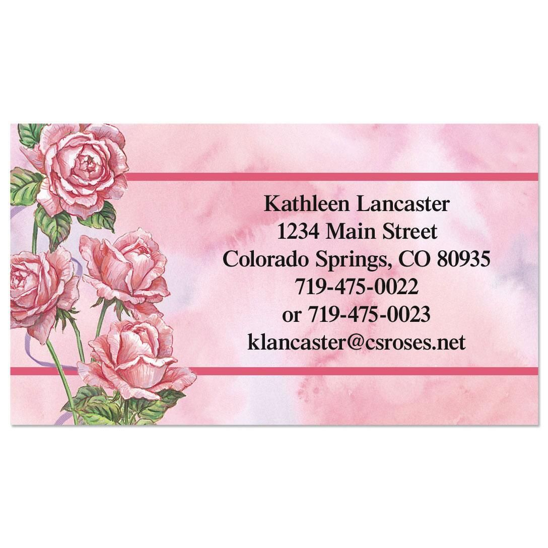 Roses & Ribbons Calling Card