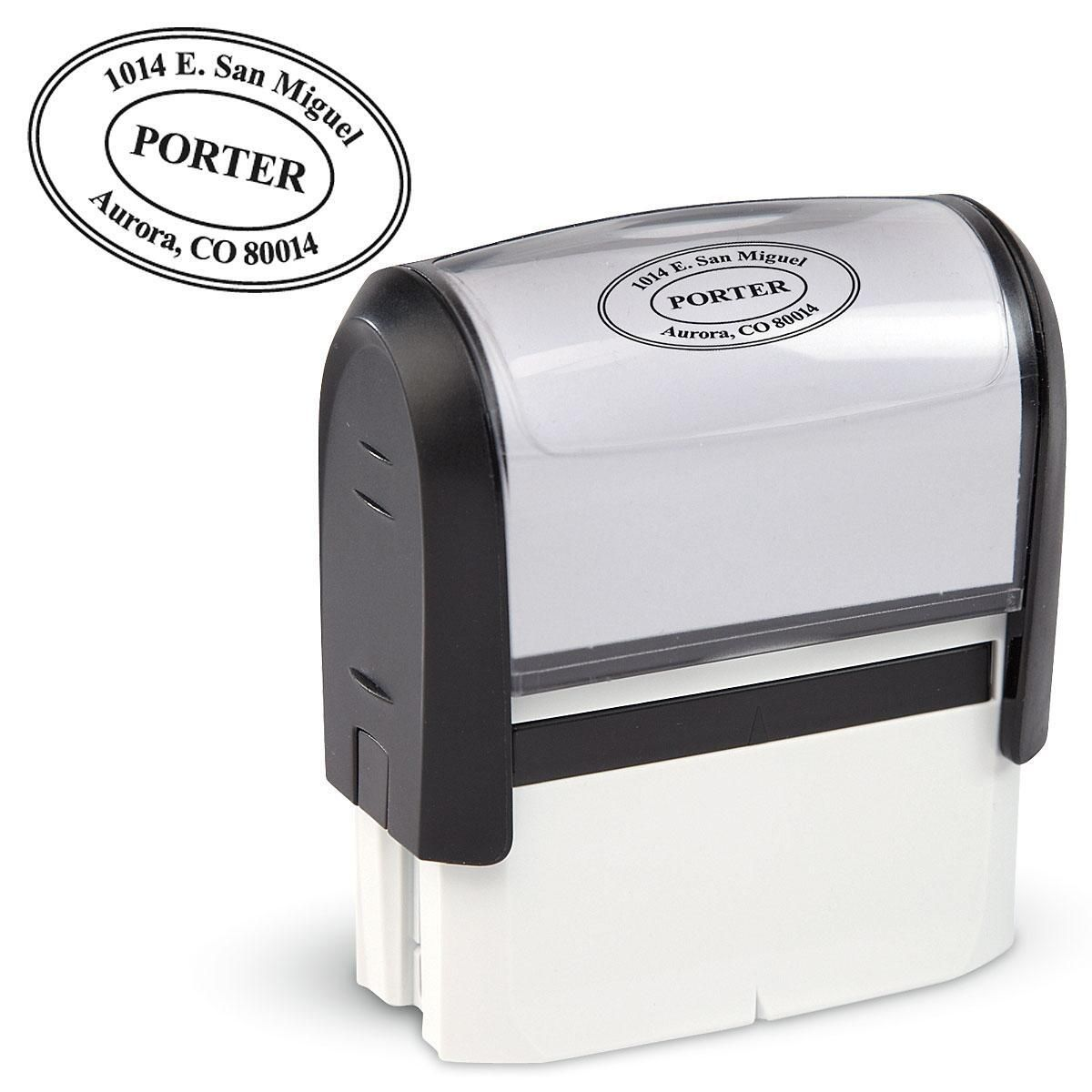Oval Self-Inking Address Stamp