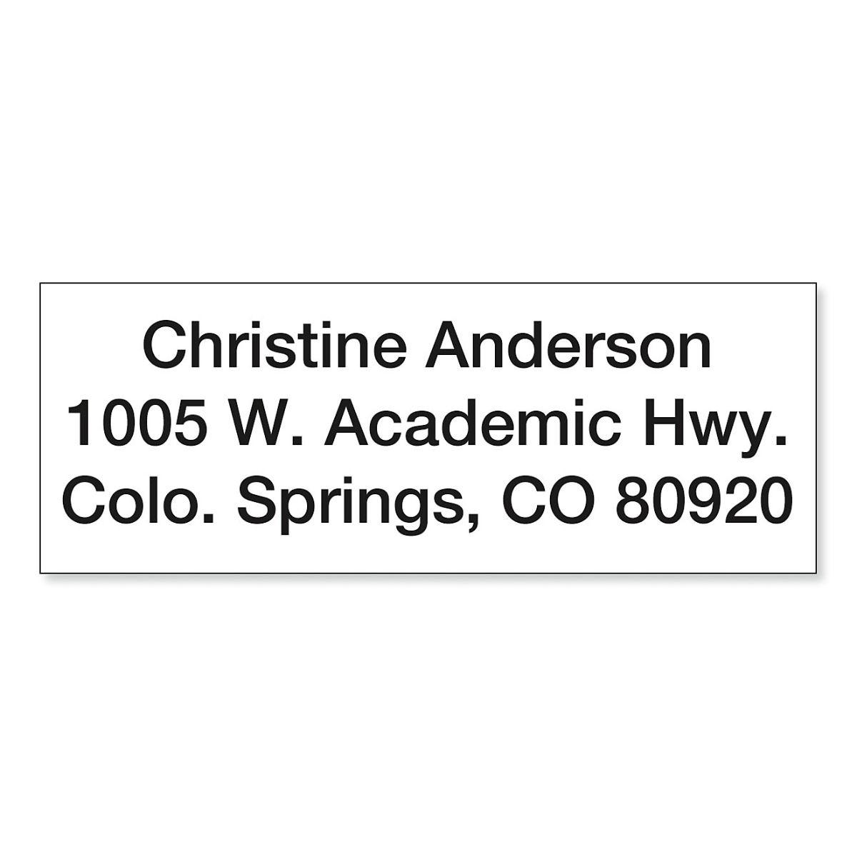 Mini Self-Inking Address Stamp
