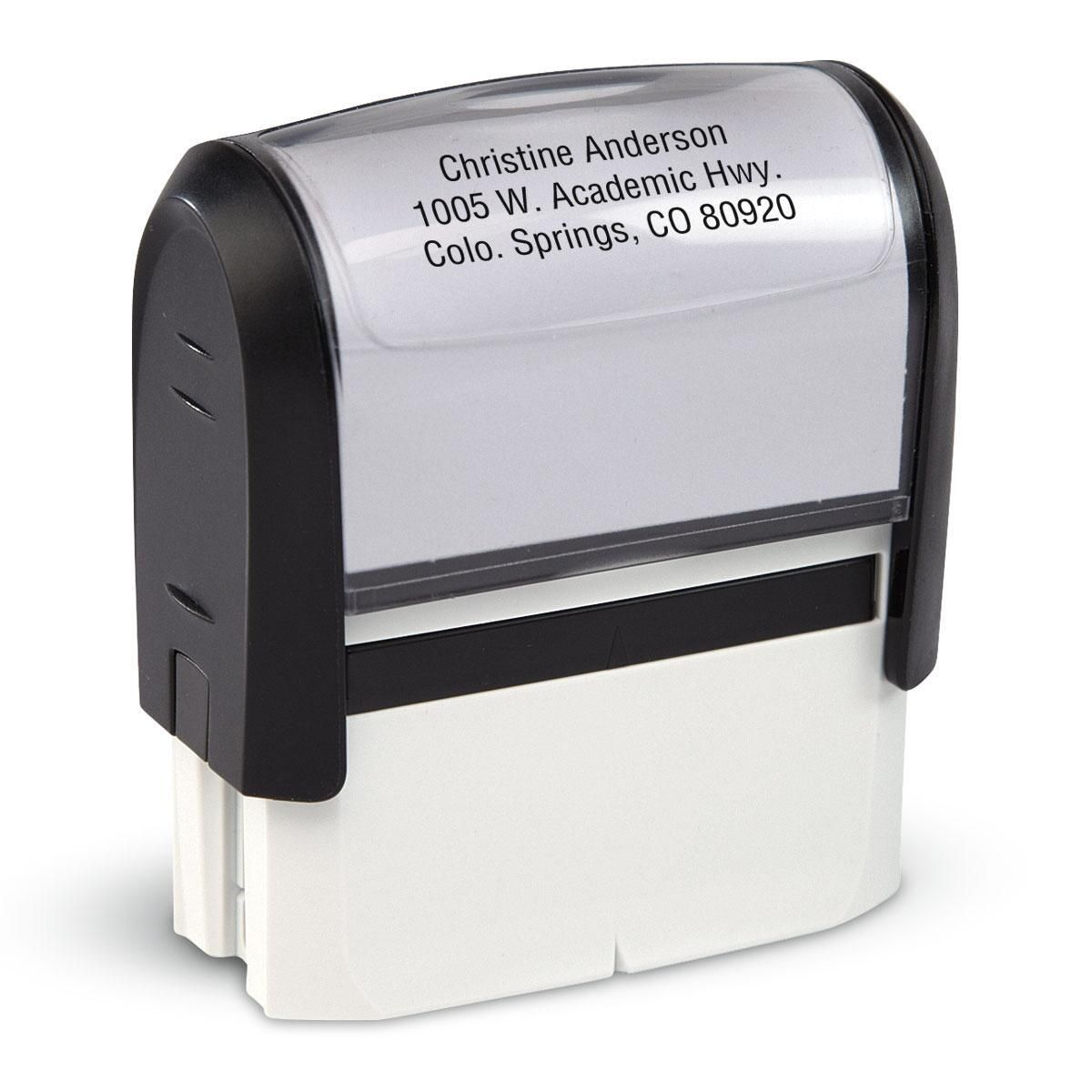 Mini Self Inking Address Stamper